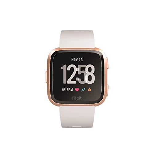 Fitbit Versa Reloj Deportivo, Unisex Adulto, Dorado Rosa/Blanco, Talla Única