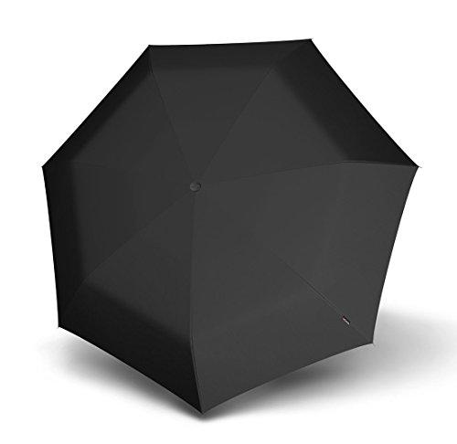 Knirps Manual Piccolo Taschenschirm 20 cm, Schwarz Black, ca. 19,5 cm lang, Durchmesser ca. 6 cm -