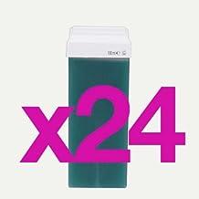 24Cartuchos de cera tibia de depilar liposoluble verde para depilación con banda, cartucho estándar, patines, oferta especial