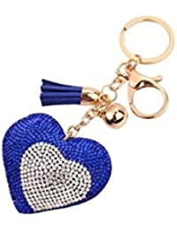 Banggood ELECTROPRIME Bag Keychain Bling Bling Key Ring Charm Decor Car Pendant Blue