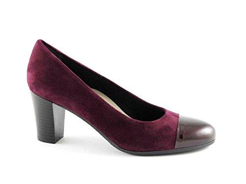 GRUNLAND NIRA SC2070 bordeaux scarpe donna decolletè camoscio 40