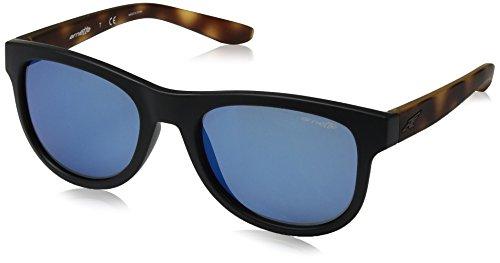 Arnette Unisex-Erwachsene 0AN4222 227355 54 Sonnenbrille, Schwarz (Fuzzy Black/Mirrorbluee),