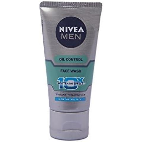 Nivea Men Oil Control Face Wash (10X whitening),50 Grams by Nivea