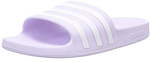 Adidas adilette aqua, scarpe da ginnastica donna, purple tint/ftwr white/purple tint, 39 eu