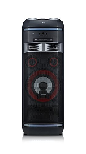 LG OK75 High Power HiFi System mit CD, Radio, USB und Mikrofoneingang Chrom/Schwarz/Rot High Power Usb