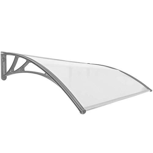 PrimeMatik - Pultvordach Vordach Türdach Überdachung grau 150x100cm