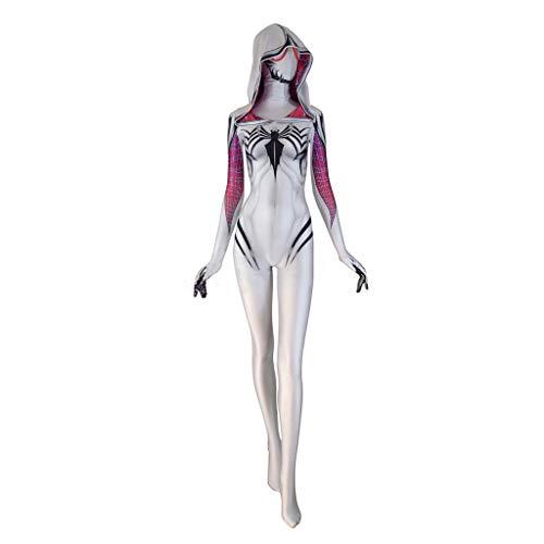 WOLJW Weibliche Gift Spider-Man Siamese Strumpfhosen Cosplay
