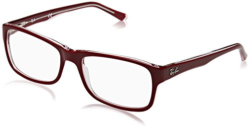 Ray-Ban Unisex-Erwachsene Brillengestell 0rx 5268 5738 55, Rot (Top Bordeaux On Transparente)