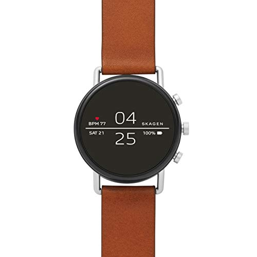 Smartwatch Skagen Connected Falster 2 Gen 4 Steel Silver Leather Brown SKT5104