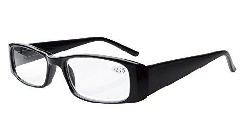 Eyekepper 5-Pack metallo di qualità molla Cerniere Crystal Clear Vision look elegante occhiali da lettura Incluso occhiali computer +1.5 vOVVLQ