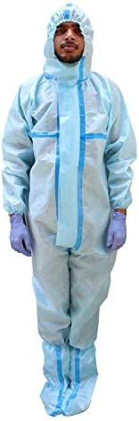 ORILEY ORPP01 SITRA & DRDO Approved PPE Kit with Coverall Suit, Hand Gloves & Shoe Cover Disposable Pe