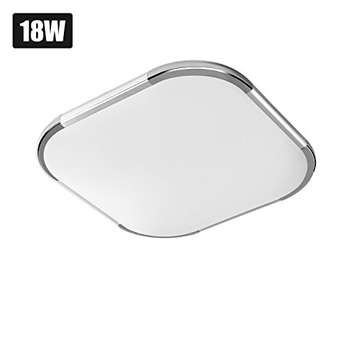 LVWIT Lámpara de Techo LED - 18W equivalente a 108W, Plafón LED...