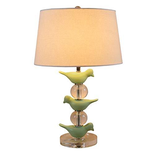 Amerikanischen Land Vogel Tischlampe Einfache Kreative Acryl Schreibtischlampe Hohe Helligkeit Led E27 Tischlaterne Leinen Stoff Schatten Schreibtischlampe Für Schlafzimmer Wohnzimmer - Hampton Deckenventilatoren