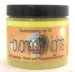 Rohrzucker-peeling (HAVANNAH NIGHTS - 200ml -Zuckerpeeling mit Öl-Zucker-Öl-Peeling-sugar scrub-Zucker Peeling-Duschpeeling-Wellnesspeeling-sugar scrub-Wellness-Handpeeling-Pflegepeeling-kubanische nächte-for men)