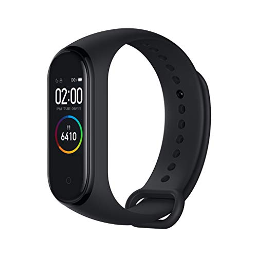 Xiaomi mi Band 4 Pulsera de Fitness Inteligente Monitor de Ritmo cardíaco 135 mAh Pantalla Color Bluetooth 5.0 más Reciente 2019(Negro)