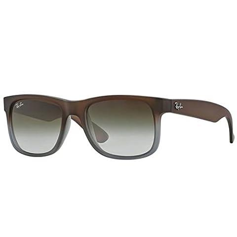 Ray-Ban RB4165 Justin Classic Sonnenbrille Large (Herstellergröße: 55), Rubber brown