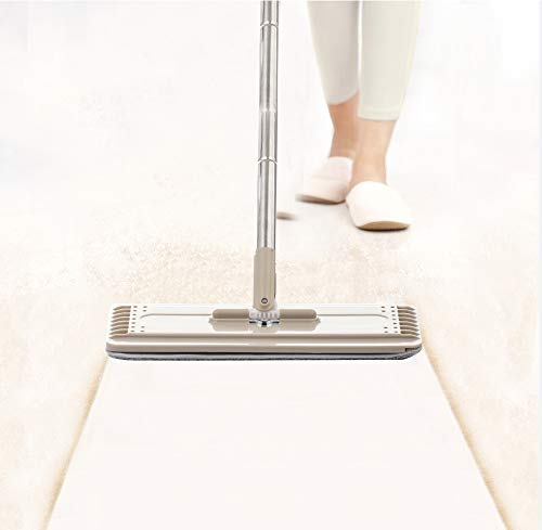 dongzhifeng Bodenwischer Mops and Bucketsmagic Flat Mop and Bucket Hand Free 360 Degree Head Self Cleaning Great for Wet and Dry Cleaning Safe On All Surfaces Cleaning