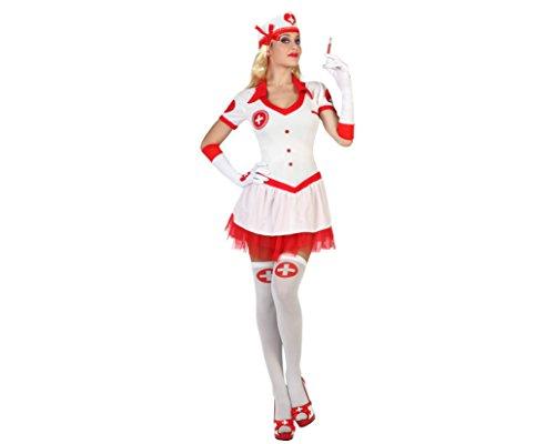Atosa 18299 - Krankenschwester Kostüm, Größe M-L, (Kostüm Krankenschwester Patient)