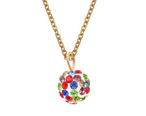 Glitz-Halskette für Teenager/Mädchen, mit Diskokugeln, für den täglichen Gebrauch
