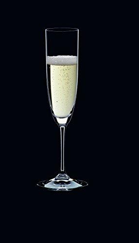 RIEDEL 6416/08 Vinum Champagner Flöte, 2-teiliges Champagnerflöten Set, Kristallglas - 2