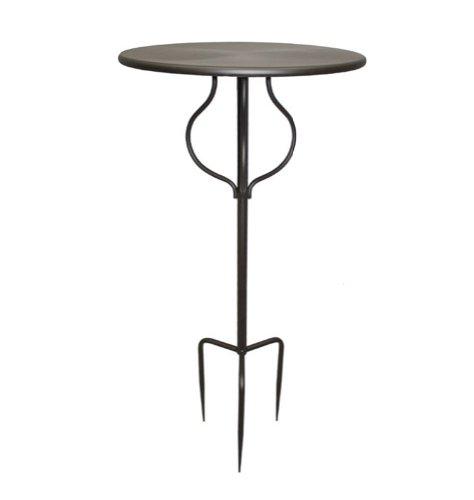 milanari Garten Deko Eisen Tisch Stecktisch Spina Eisentisch rund Ø 46 cm