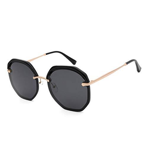 ETH UV400 Half Frame Augenbrauen Polarisierte Sonnenbrille Weibliche Multilaterale Dekorative Sonnenbrille Brille dauerhaft