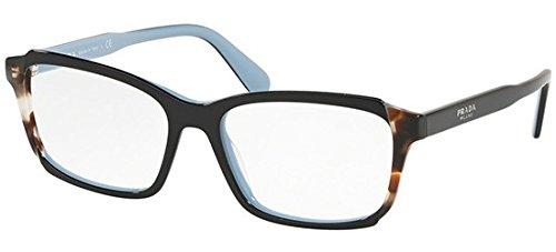 Ray-Ban Damen 0PR 01VV Brillengestelle, Schwarz (Top Black/Azure/Spotted Brown), 55