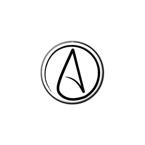 UNIVERSUM Atheist Symbol Metall Revers Hat Shirt Handtasche Pin Krawattennadel Pinback