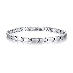 Coniea Fußketten Männer Fußkettchen Armband Silber Magnet 6Mm/26Cm Fußkettchen Edelstahl