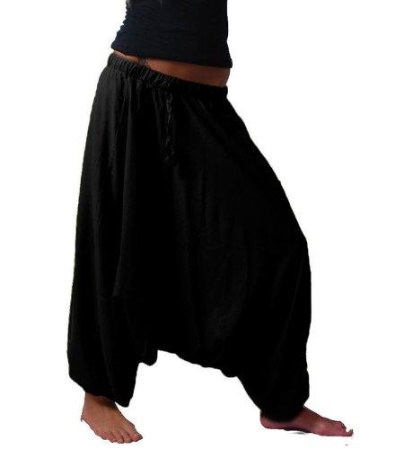 Orientalische Haremshose Pumphose Shalwar Hose Muck ALADINHOSE Hosenrock, Farbe:Black / Schwarz