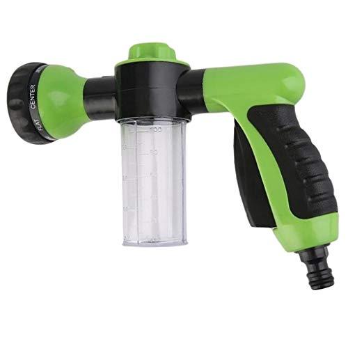 3,5 Unzen Spray (Almencla Gartenschlauch Düse Einstellbar 8 Bewässerungsmuster Mit 3,5 Unzen Seifensprühgerät Schaum Düsensprühgerät Für Auto Waschen Haustier Dusche (Grün))