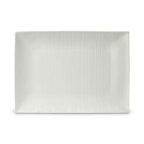 Mikasa White Dish (Mikasa Stone Ridge White 15-Inch Rectangular Platter)