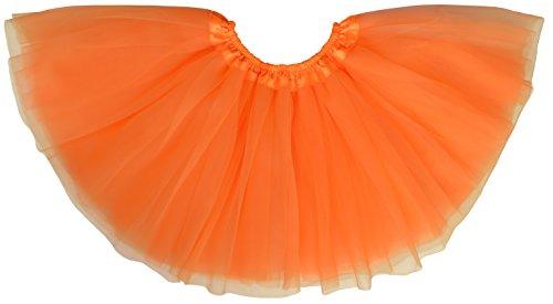 Dancina Mädchen Tüllrock Tutu Ballettrock Classic 8-13 Jahre Orange (Günstige Ballett Tanz Kostüme)
