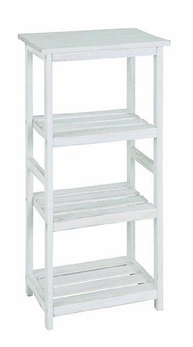 HAKU Möbel 26316 Regal 38 x 27 x 87 cm, weiß gewischt