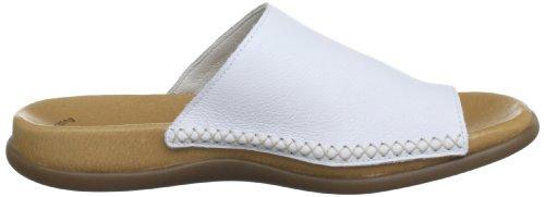 Gabor Lanzarote Leather, Sandales femme Blanc (White)
