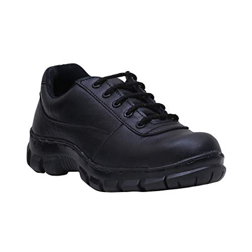 Buy Peter John Leather's pj_070_black_3_8 Handmade Steel Toe Safety Leather Shoes for Men, Size 8 (Black) online in India at discounted price