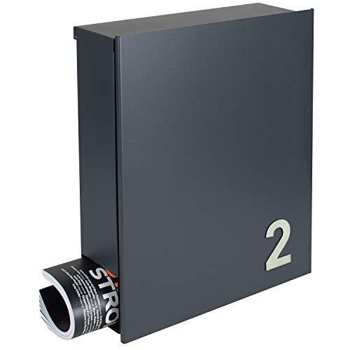 MOCAVI Box 111 plus eine Edelstahl Hausnummer V4A Design ...