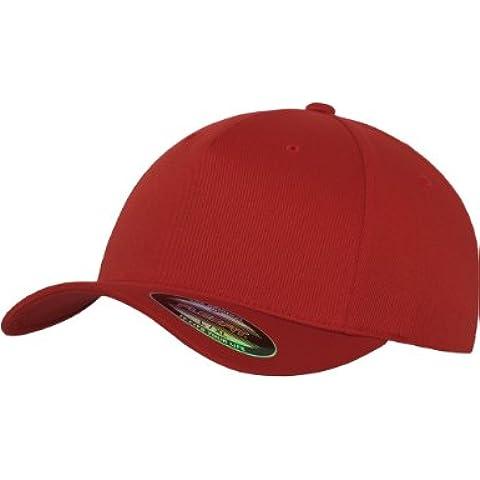 Flexfit-Berretto da uomo, 5 pannelli rosso  Rosso L/XL
