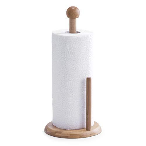Zeller 25272 supporto per rotolo di carta assorbente con bastone centrale, cartone, beige, 0.1x16x34 cm
