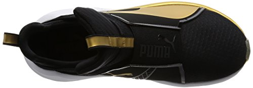 Puma Fierce, Sneakers Basses Femme Noir - Schwarz (puma BLACK-GOLD 02)