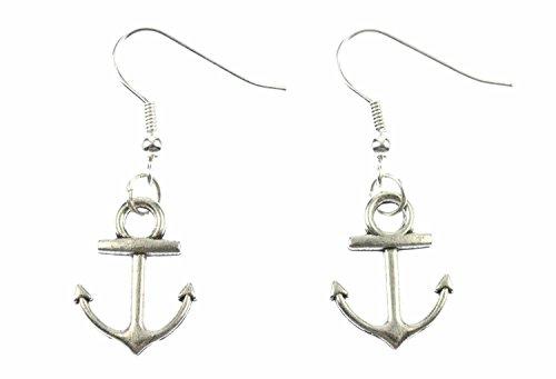 Anker Ohrringe Miniblings Ohrhänger Schiff Boot Kapitän silber 2cm schlicht