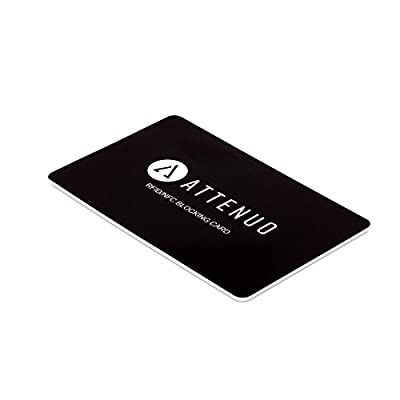 RFID/NFC Blocking Card by ATTENUO | Contactless Cards Protection | 1 Card Protects Your Entire Wallet | No Batteries Required, No Fiddly Sleeves, Fuss-Free Protection