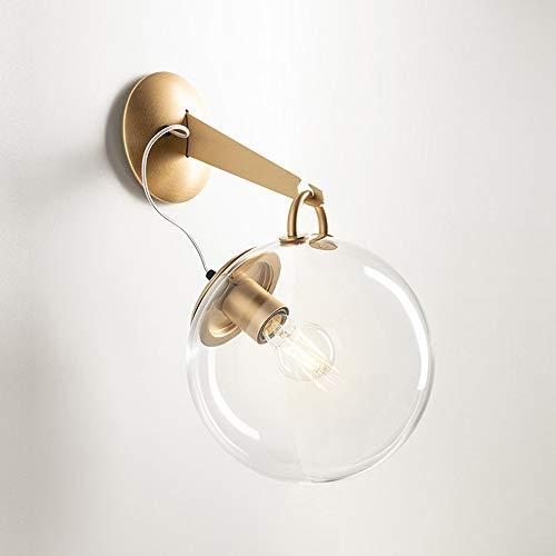Hjgty lampade da parete a bolle di sapone nordico semplice moderno applique da parete creativo bolla di vetro soggiorno decorazione camera da letto luci del comodino