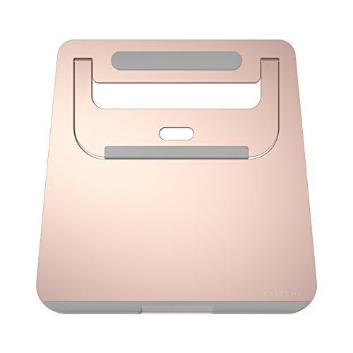 SATECHI Base di Alluminio Portatile e Richiudibile per Laptop, Notebook e Tablet (Oro Rosa)