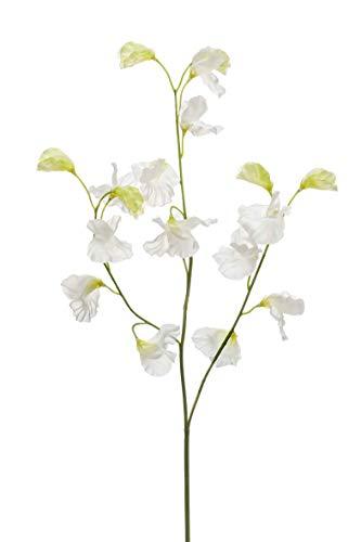 artplants Set 24 x Kunstblume Lathyrus VICENZO, Creme, 65cm - Kunst Platterbse/Textil Lathyrus Blume