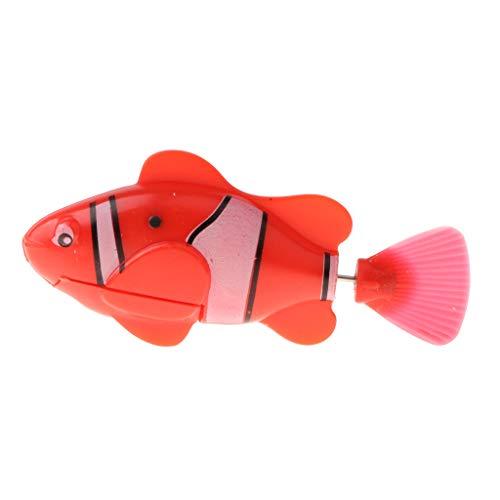 D DOLITY Lebensechte Elektronische Roboter Fisch Elektroroboter Schwimmfisch Clownfisch Wasserspielzeug Aquarium Dekoration - B