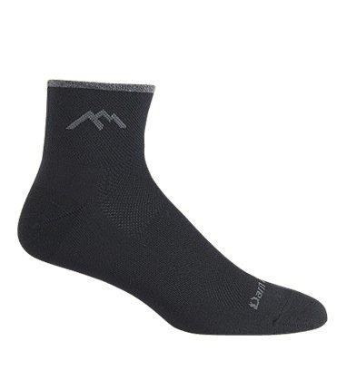 Darn Tough Coolmax 1/4Socke Kissen, damen Mädchen Jungen Herren, schwarz (1/4 Coolmax Sock)