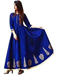 84b2cb160e84f Lenira Creation Women s Semi Stitched Silk Anarkali Gown for all types of  function(Free size