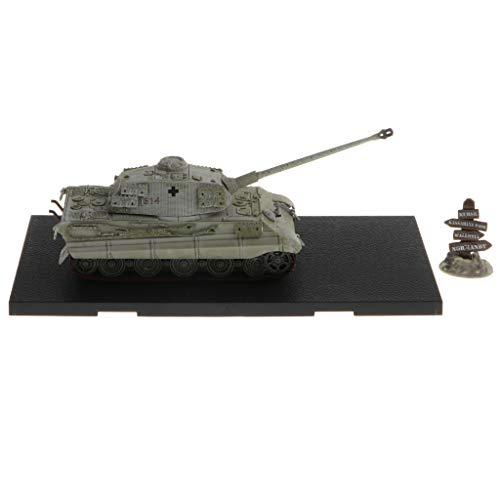 KESOTO Handgefertigter Panzer Spielzeug Tank Modell Kampfpanzer, Geschenk für Geburtstag, aus Legierung - Grau