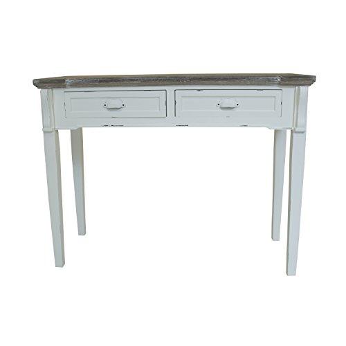 Konsolentisch / Beistelltisch / Wandtisch - 2 Schubladen - Shabby Chic - Weiß